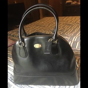 COACH Cora Dome Satchel in Black